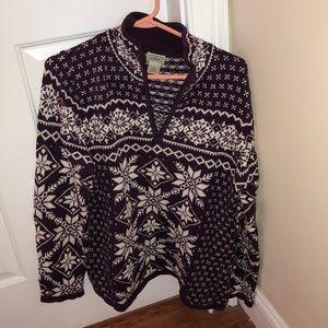 LL Bean women's quarter zip sweatshirt